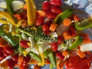 Lock-down roast Mediterranean veg with a twist