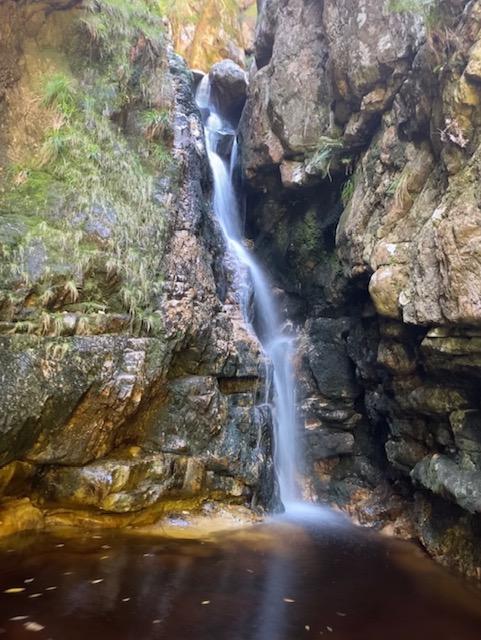 Jonkershoek Waterfall hike in Stellenboach. Waterfalls near the Cape